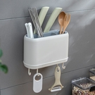 筷子置物架家用免打孔收納架筷子簍壁掛式多功能用品廚房收納神器 一米陽光