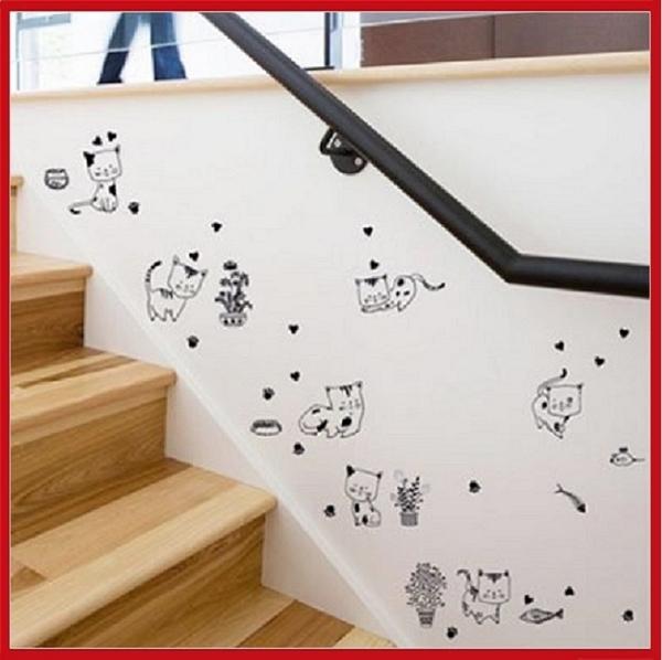 創意壁貼-貓咪隨心貼 SK36005【AF01013-1064】i-Style居家生活