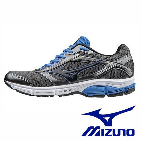 【MIZUNO促銷6折】MIZUNO 一般足弓入門款 WAVE IMPETUS 4 男 運動鞋 藍黑 J1GC161311
