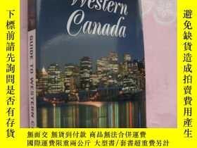 二手書博民逛書店Guide罕見to Western Canada 加拿大西部旅遊
