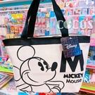 正版 迪士尼 米奇米妮 米奇 雙面圖案 帆布拉鍊便當袋 手提袋 收納袋 餐袋 購物袋 COCOS DK280