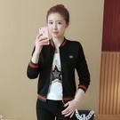 棒球外套 春秋裝新款休閒短款棒球服外套女裝韓版棒球衫長袖學生短夾克外衣 生活主義