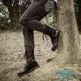 馬丁靴男真皮長筒靴子男軍靴中高筒