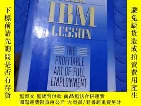 二手書博民逛書店THEE罕見IBM LESSON THE PROFITABLE