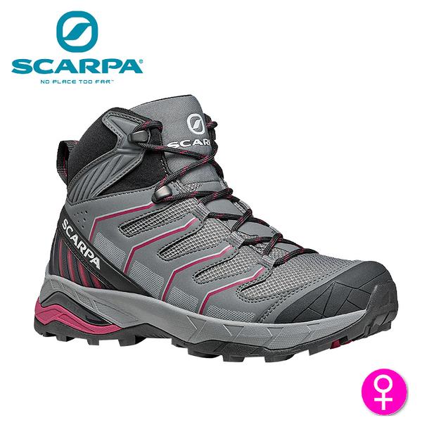 【速捷戶外】義大利 SCARPA MAVERICK MID GTX 63090-202 女中筒Gore-Tex防水登山鞋 灰-梅紫