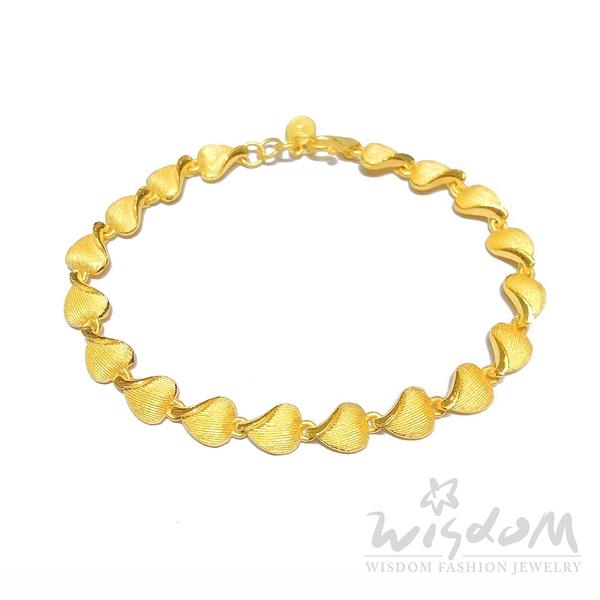 威世登 黃金心型手鍊 情人節 金重約3.64~3.66錢 GC01609 -AEXX -FIX