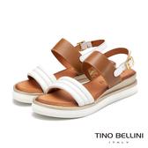 Tino Bellini義大利進口全真皮舒足小坡跟涼鞋_白 VI9066 歐洲進口