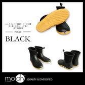 短筒雨靴 超輕量 柔軟 拚色 日本時尚軟面折疊低筒雨鞋 mo.oh (日系鞋款)