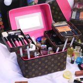 化妆箱化妝包多層大容量護膚品防水洗漱收納盒簡約便攜化妝箱家用「輕時光」