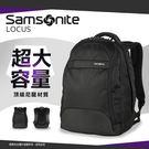 《熊熊先生》Samsonite新秀麗15.4吋電腦筆電雙肩包後背包LOCUS II雙向拉鍊休閒包 護墊背帶防潑水Z36