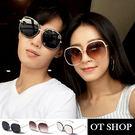 OT SHOP太陽眼鏡‧韓系橢圓框顯瘦小...