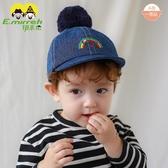 伊米倫嬰兒棒球帽加絨加厚秋冬保暖男女寶寶鴨舌帽韓版兒童帽子潮