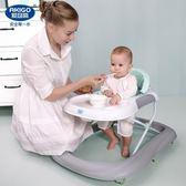 嬰幼兒寶寶學步車防側翻6/7-18個月手推可坐男女孩學行HL 【好康八八折】