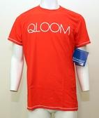 【QLOOM】 男款 休閒圓領T恤 ZEIL 紅色 瑞士進口/MTB/公路車/夜騎/排汗衣/登山車衣