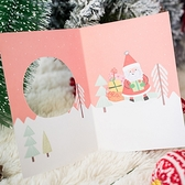 【BlueCat】聖誕節 縷空水晶球 卡片 (附信封) 賀卡 聖誕卡