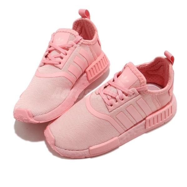 adidas 休閒鞋 NMD_R1 EL I 粉紅 童鞋 小童鞋 小朋友 運動鞋 襪套式 【ACS】 FX7165