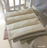 棉麻日式布藝風格簡約學生榻榻米坐墊椅墊薄款防滑坐墊     LY6501『愛尚生活館』TW