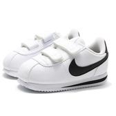 NIKE 休閒鞋 CORTEZ BASIC SL 白黑 阿甘鞋 阿甘 魔鬼氈 小童 (布魯克林) 904769-102
