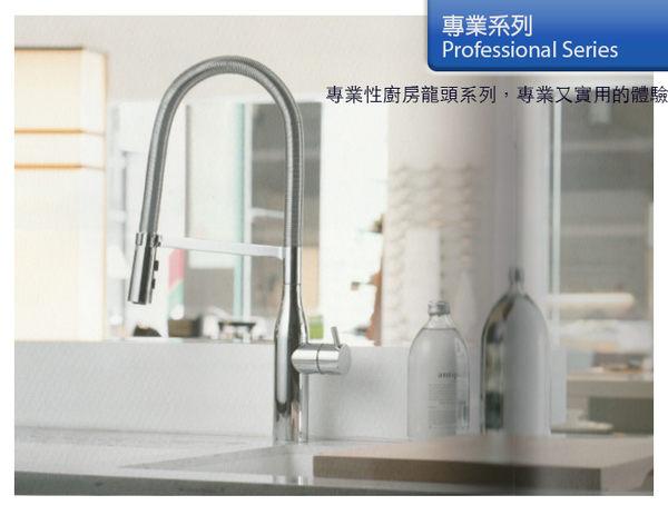 [Huntington] 美國精品無鉛龍頭 專業系列_設計款單把兩功能下拉式花灑廚房龍頭 多功能出水(K19802)