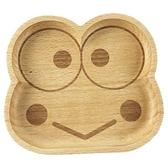 小禮堂 大眼蛙 造型木質飾品盤 肥皂盤 小木盤 小物盤  (棕 大臉) 4901610-17644