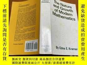二手書博民逛書店The罕見Nature and Growth of Modern MathematicsY171500 看圖