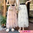 網紗半身裙女流行春夏超火裙子a中長款仙女裙 源治良品