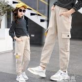 女童褲子5兒童加絨工裝褲休閒7秋冬裝8女孩9韓版洋氣燈芯絨褲10歲 小艾時尚