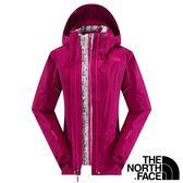 【THE NORTH FACE 美國】女 兩件式GT羽絨外套『紫紅/粉紅』NF00CUF1 兩件式外套 GORE-TEX