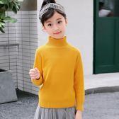 女童毛衣兒童秋冬打底洋氣童裝小女孩秋裝套頭高領針織衫-BB奇趣屋