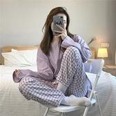韓國ins泫雅睡衣女春秋季長袖套裝網紅同款女士甜美家居服可外穿 【快速出貨】