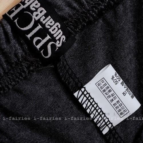 現貨+快速★(正韓空運)雙色色棉質內搭褲深灰黑邊★ifairies【21087】