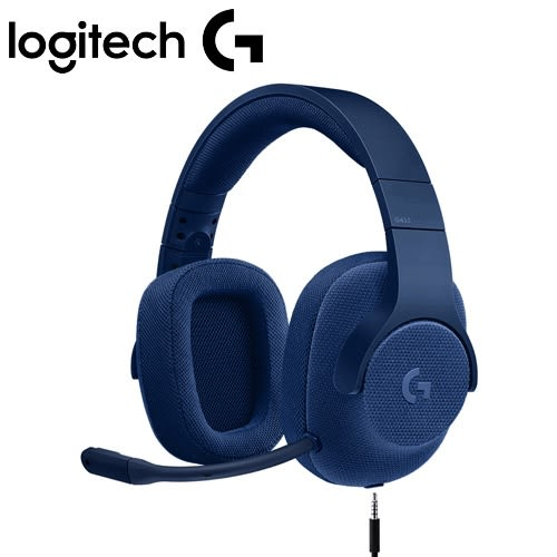 【加價購】Logitech 羅技 G433 7.1聲道有線遊戲耳機麥克風 真實藍