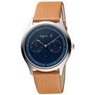agnes b.普魯士之星皮帶時尚腕錶 VD75-KYF0J