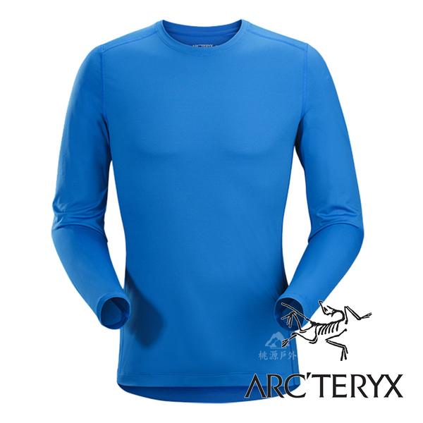 【Arc'teryx 始祖鳥】男 Phase SL輕量內層圓領衫『參宿藍』L068617 機能衣│套頭衫