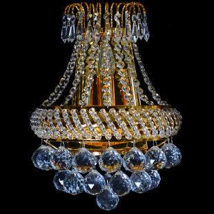 設計師美術精品館臥室床頭水晶壁燈現代簡約 客廳樓梯歐式創意壁燈帶開關