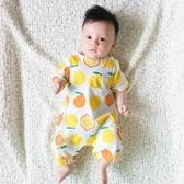 嬰兒連體衣服夏季寶寶夏裝短袖平角哈衣3個月1歲