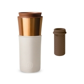 【HYDY】兩用隨行保溫杯 尤加利-古銅金+ 泡茶器