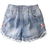2019夏季新款韓版時尚中大童薄款兒童外穿夏裝女童牛仔短褲潮