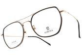 SEROVA 光學眼鏡 SL386 C7 (黑-玫瑰金) 復古造型飛行款 眼鏡框 # 金橘眼鏡