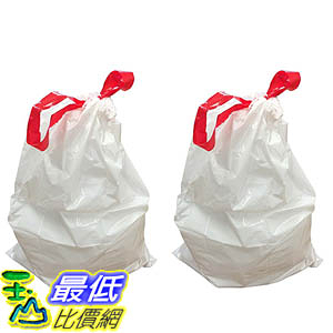 [106美國直購] Think Crucial 20PK Durable Garbage Bags Fits simplehuman size H 30-35L / 8-9 Gallon