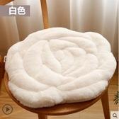 坐墊九只貓玫瑰花坐墊辦公室椅子墊秋冬季榻榻米毛絨坐墊椅墊地墊LX