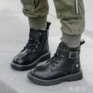 男童馬丁靴2020秋冬季新款中大童兒童英倫風加絨軍靴童棉鞋潮  一米陽光
