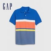 Gap男童時尚撞色短袖POLO衫573660-鈷藍色