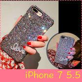 【萌萌噠】iPhone 7 Plus (5.5吋)  韓國潮殼女款 奢華水鑽閃粉保護殼 超薄半包硬殼 手機殼 手機套