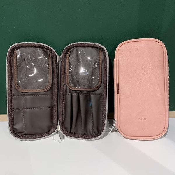 煙粉色皮革材質 SwanLace好物 多功能大容