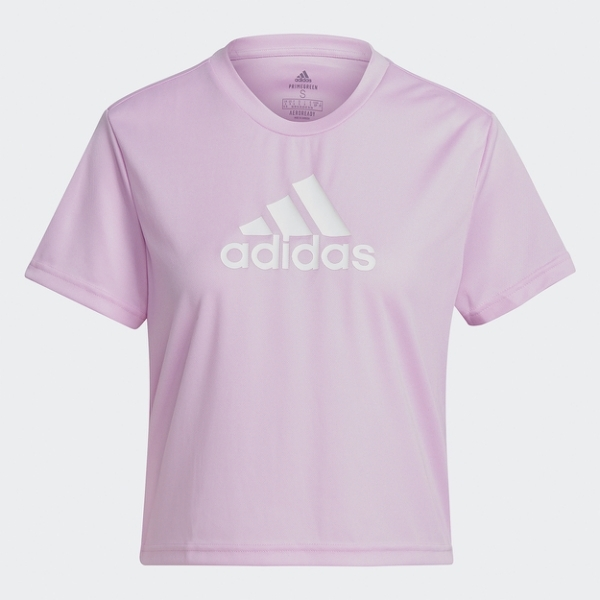 Adidas AEROREADY 女裝 短袖 T恤 休閒 短版 吸濕排汗 紫【運動世界】GL3831
