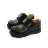 小男生鞋 皮鞋 魔鬼氈 童鞋 黑色 590004-08 no143