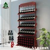 紅酒櫃歐式實木紅酒架擺件酒櫃木質葡萄酒展示架陳列櫃創意落地架子家用  LX