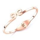 《QBOX 》FASHION 飾品【B19N956】 精緻創意氣質緊箍咒手環玫瑰金鈦鋼手鐲/手環