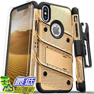 【美國代購】Zizo Bolt系列 iPhone Xs Max保護套 軍用級Drop測試 Kickstand 金黑色